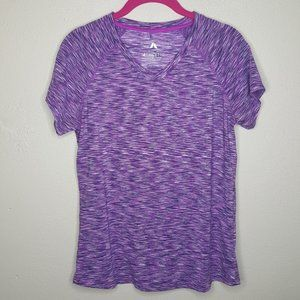 M Athletic Collection Purple Top Shirt Heather E